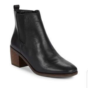 Lucky brand mekinly leather black ankle boots